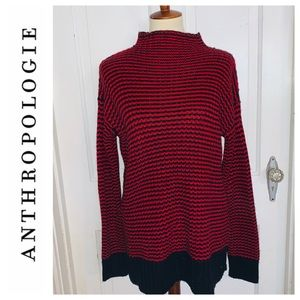 Anthropologie Sanctuary Black/Red Striped Sweater